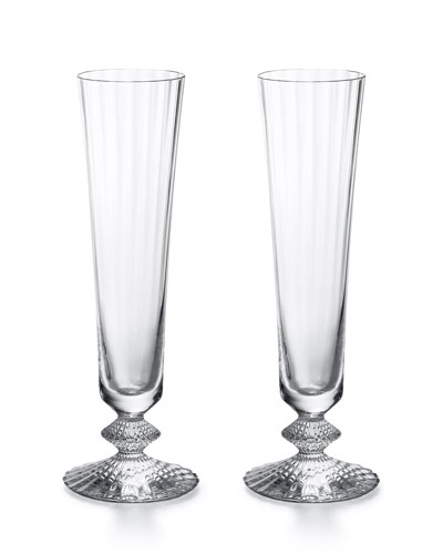 Mille Nuits Champagne Flutes  Set of 2