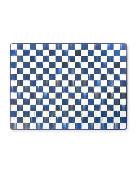 Image 1 of 1: Royal Check Cork Back Placemats, Set of 4
