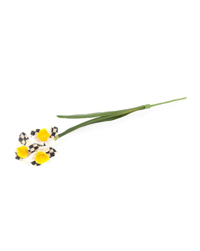 Courtly Check Daffodil Decoration