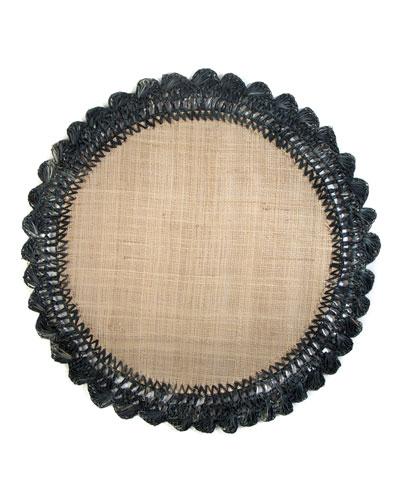 Boheme Raffia Placemat  Black