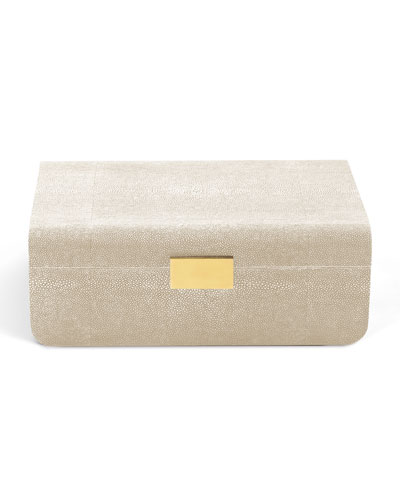 Modern Shagreen Large Jewelry Box