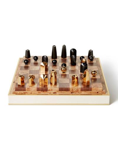 Shagreen Chess Set