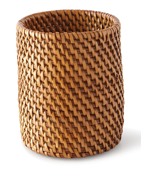 Dalton Round Rattan Brush Holder