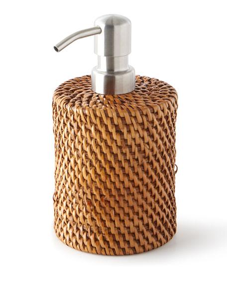 Dalton Round Rattan Soap Pump
