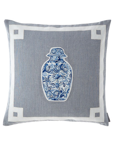 Oriental Medium Square Vase Pillow