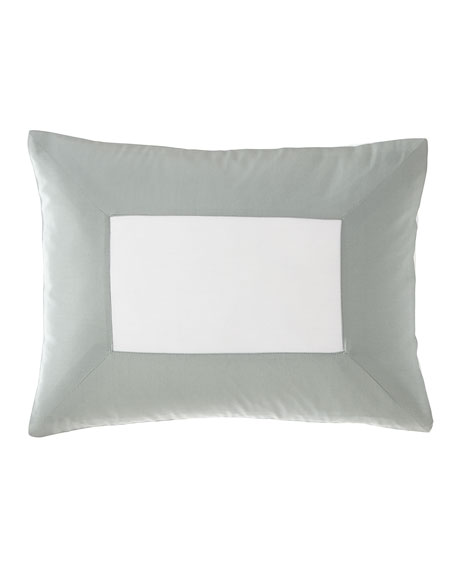 Modern Sateen Applique Boudoir Pillow