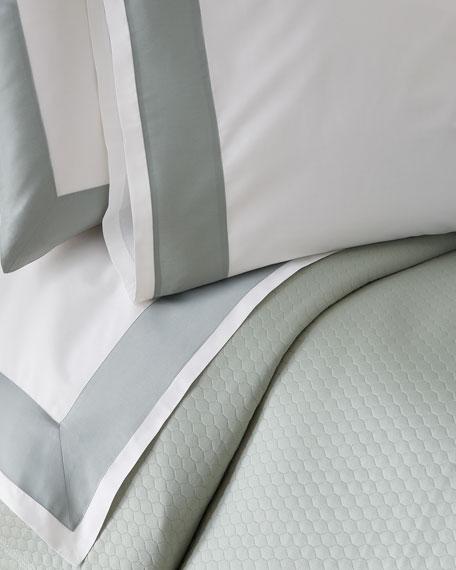 Modern Sateen Applique Standard Pillowcase