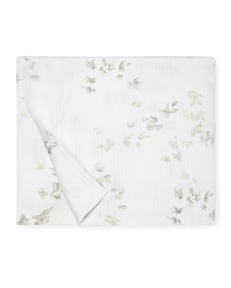Floral Herringbone King Duvet Cover