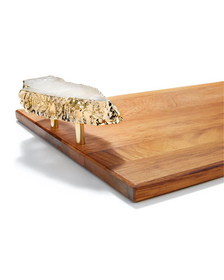 ANNA New York Bosque Large Wood Tray with