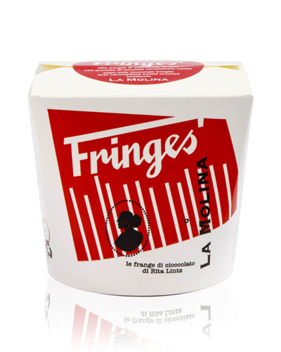 Fringes Take Away 24-Piece Milk Chocolate with Hazelnuts & Salt