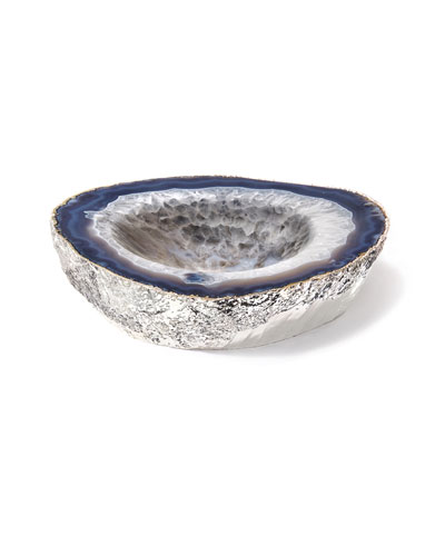 Casca Agate Bowl  Silver