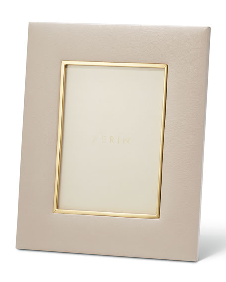 """Valentina Leather Picture Frame, 5"""" x 7"""""""