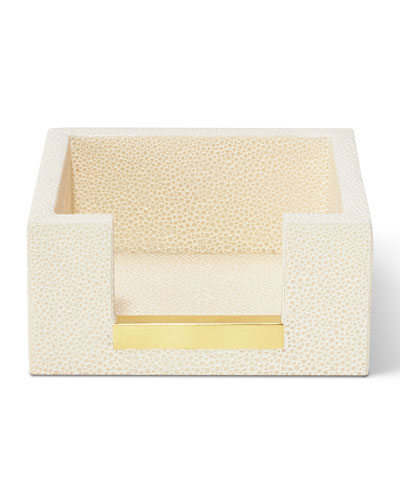 Shagreen Memo Paper Holder