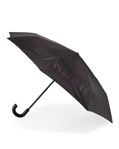 4c480a91c8d Burberry Trafalgar Logo Jacquard Folding Umbrella