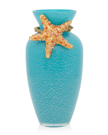 Jay Strongwater Oceana Coral Vase