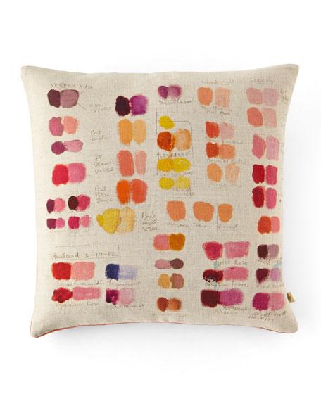 Mixed Tones Fuchsia Pillow