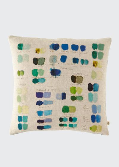 Mixed Tones Cobalt Pillow