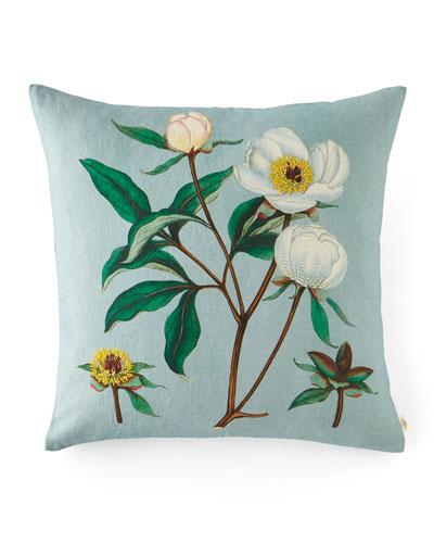 Paeonia Albiflora Celadon Pillow