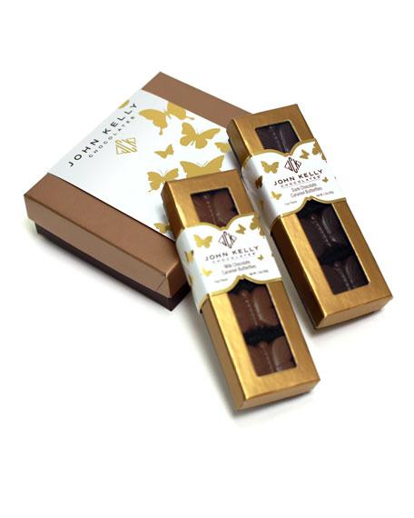 4-Piece Dark Chocolate Butterflies with Caramel Roasted Almonds and Sea Salt