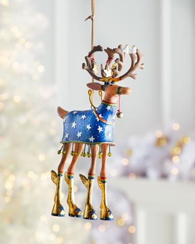 Dash Away Comet Reindeer Ornament
