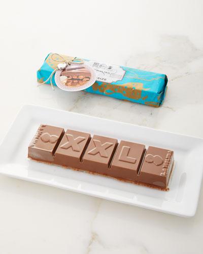 Oversized XXL Gianduja & Hazelnut Chocolate Bar