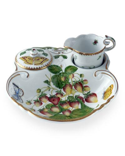Strawberry 3-Piece Tea Dish Set