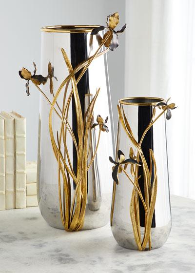 Black Iris Large Vase