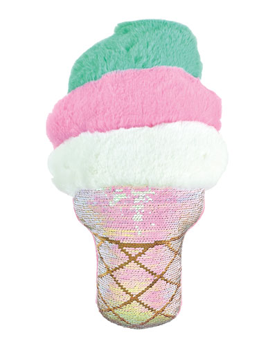Swirl Cone Sequined Pillow
