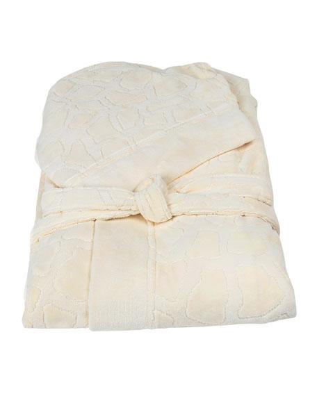 Jerapah Italian Hooded Bathrobe - Size XXL, Ivory