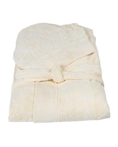 Jerapah Italian Hooded Bathrobe  Ivory