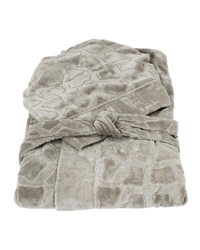 Jerapah Italian Hooded Bathrobe  Gray