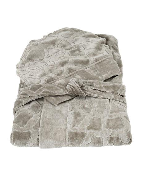 Jerapah Italian Hooded Bathrobe - Size XXL, Gray