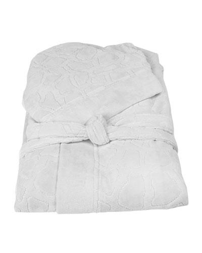 Jerapah Italian Hooded Bathrobe  White