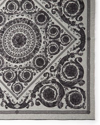 Cashmere-Wool Throw Blanket