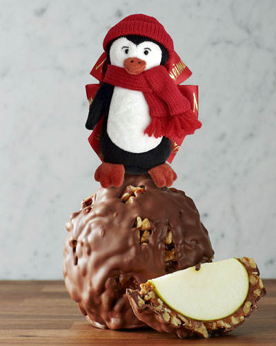 Milk Chocolate Walnut Apple with Penguin