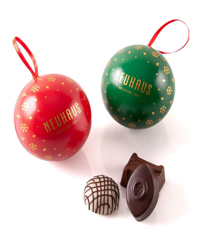 Classic Chocolate Christmas Ornaments  Set of Two