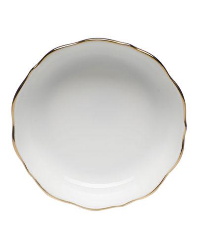 Chinese Bouquet Mini Scalloped Dish - Golden Edge