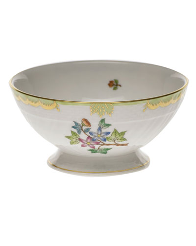 Queen Victoria Green Footed Bowl