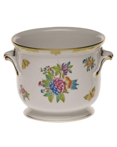 Queen Victoria Green Small Cache Pot