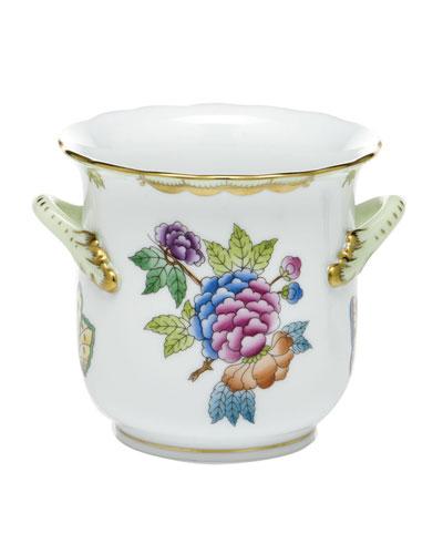Queen Victoria Green Mini Cache Pot with Handles