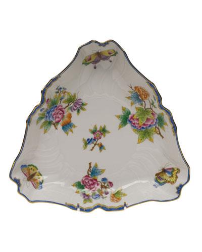 Queen Victoria Blue Triangle Dish