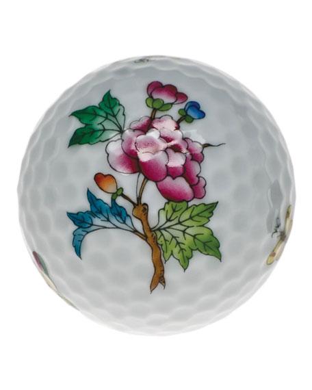 Queen Victoria Green Golf Ball