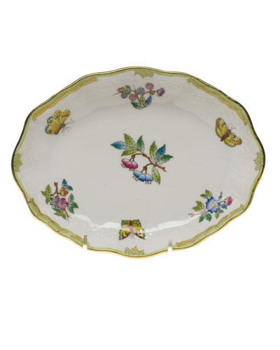 Queen Victoria Green Small Oval Dish