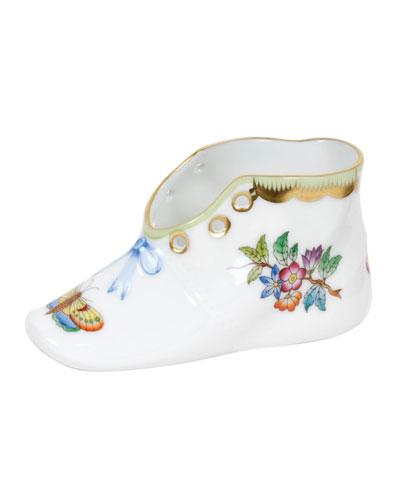 Queen Victoria Green Baby Shoe