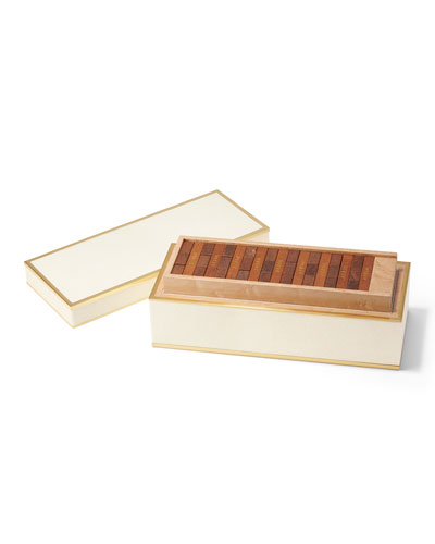 Shagreen JENGA Set  Cream