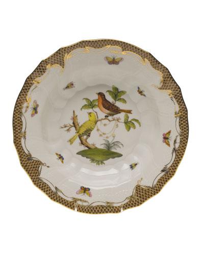 Rothschild Bird Brown Motif 06 Rim Soup Bowl