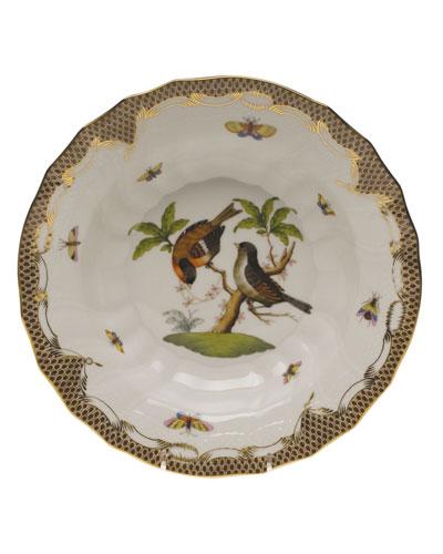 Rothschild Bird Brown Motif 12 Rim Soup Bowl
