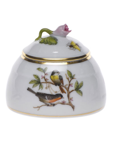 Rothschild Bird Honey Pot with Rose