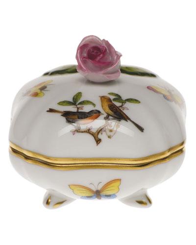 Rothschild Bird Covered Bonbon with Rose