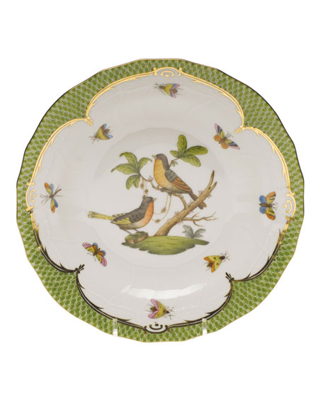Rothschild Bird Green Motif 08 Dessert Plate